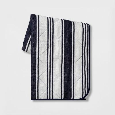 Stripe Picnic Blanket White/Blue - Threshold™