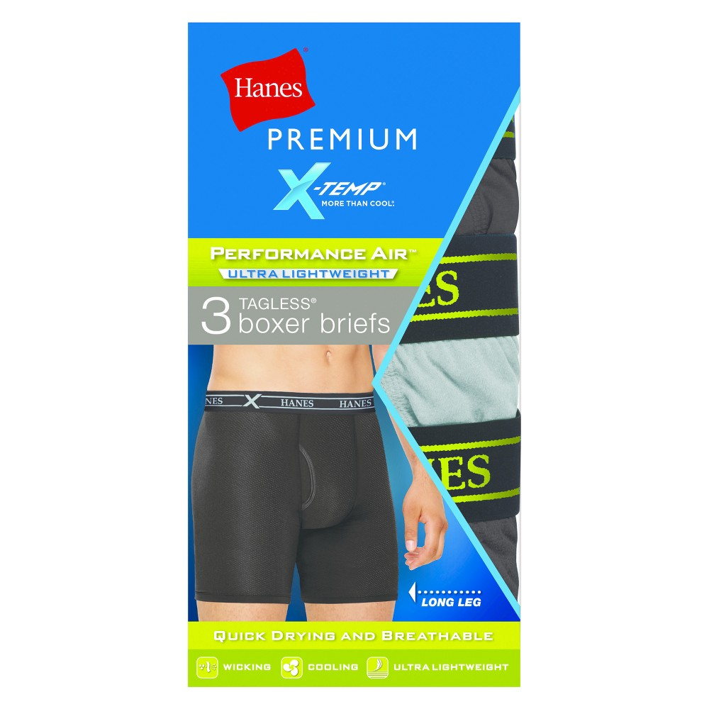 Hanes Premium Men's Performance Ultralight Long Leg Boxer Briefs Colors Vary - S, Multicolored