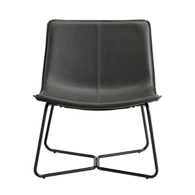 Gabriel Modern Faux Leather Lounge Chair - Saracina Home