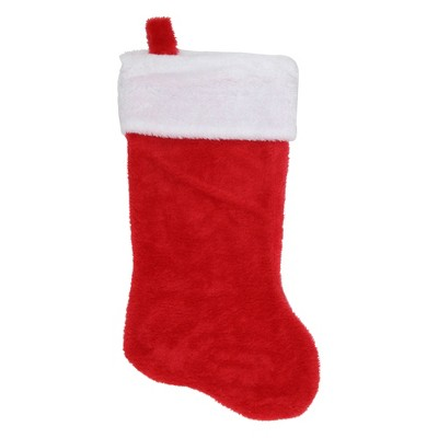 """Northlight 17"""" Traditional Red with White Trim Hanging Christmas Stocking"""