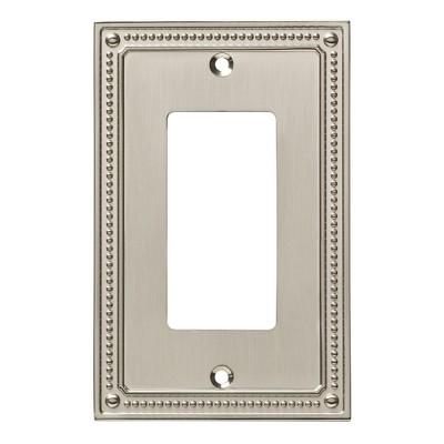 Franklin Brass Classic Beaded Single Decorator Wall Plate Nickel