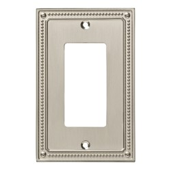 Franklin Brass Classic Beaded Single Decorator Wall Plate Nickel