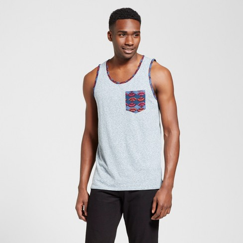 Men's Vented Hem Tank with Pocket - Mossimo Supply Co.™ Teal Heather XL - image 1 of 2