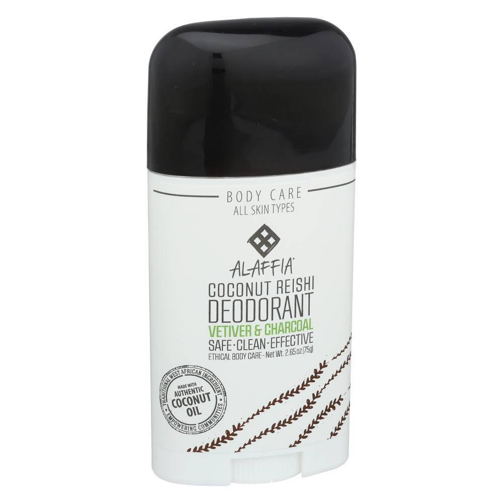Image of Alaffia Vetiver & Charcoal Coconut Reishi Deodorant - 2.65oz