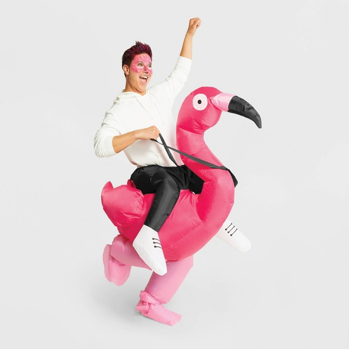 Adult Inflatable Flamingo Halloween Costume One Size - Hyde & EEK! Boutique™ - image 1 of 4