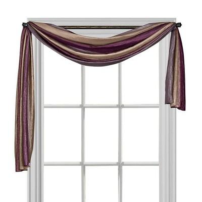 Ombre Window Curtain Scarf Aubergine (50 x144 )- Achim
