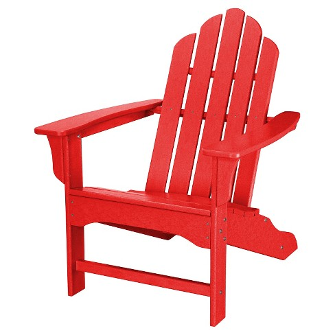 Outdoor All-Weather Adirondack Chair - Sunset Red - Hanover - image 1 of 2