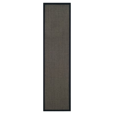 "Klara Natural Fiber Runner - Charcoal (2' 6"" X 8')- Safavieh"