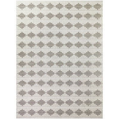 7'x10' Geo Outdoor Rug Gray - Project 62™