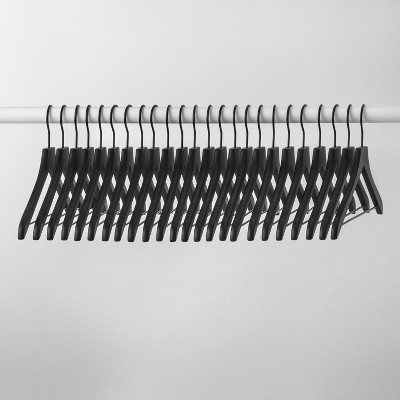 24pk Wood Hanger Black - Made By Design™