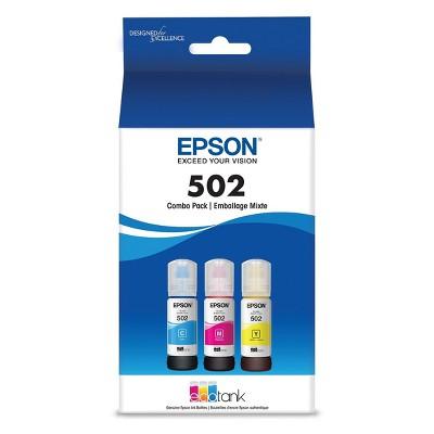 Epson 502 C/M/Y 3pk Ink Bottles - Cyan, Magenta, Yellow (T502520-CP)