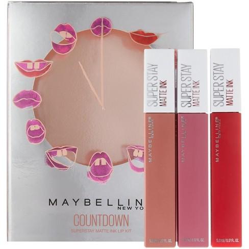 Maybelline Countdown Superstay Matte Ink Lip Kit 051 Fl Oz