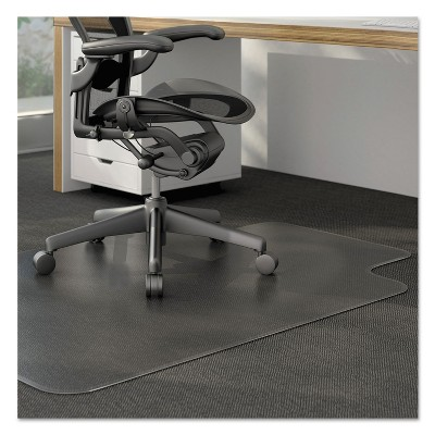 """3'9""""x4'5"""" Rectangle Solid Office Chair Mat Clear - Alera"""