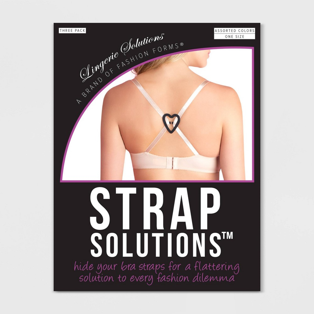 Image of Fashion Forms Women's Strap Solutions - 3 Pack, Size: Small, Clear