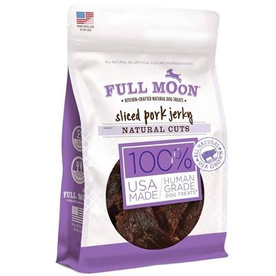 Full Moon Natural Cut Pork Jerky Dog Treats - 5oz
