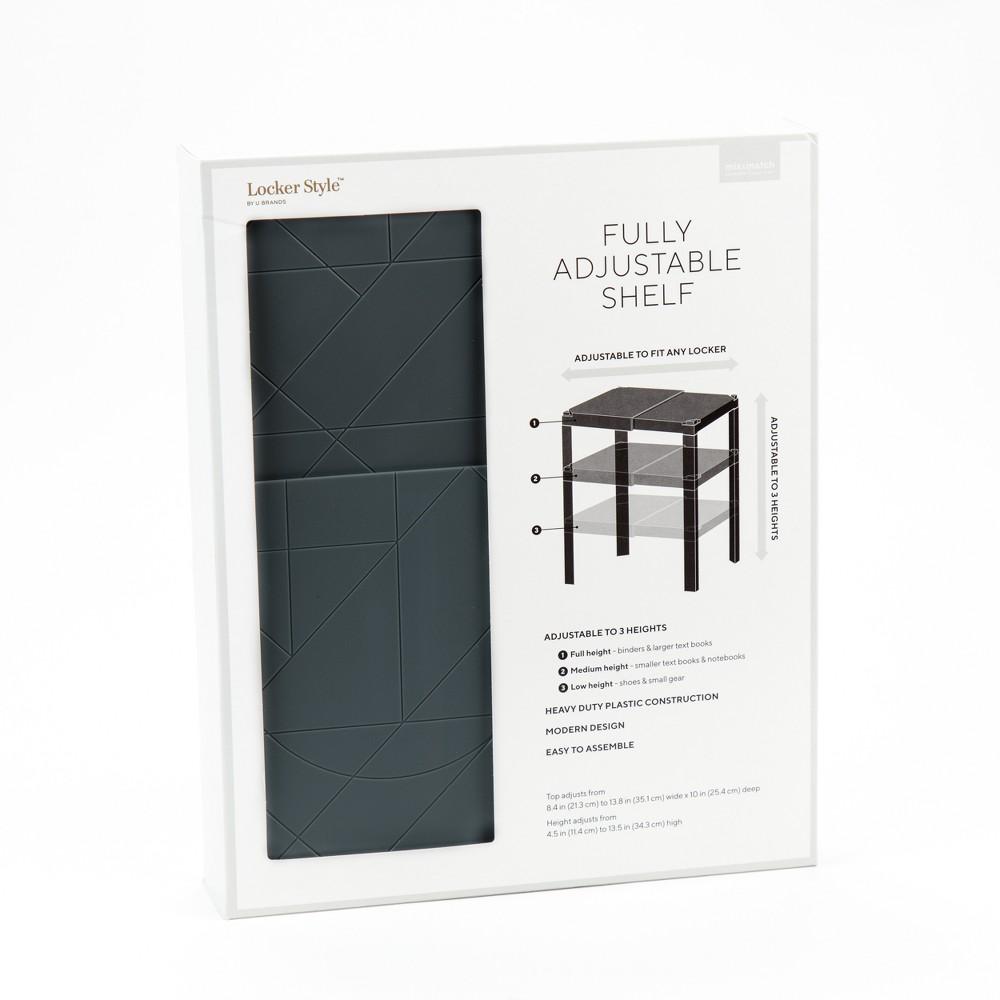 Fully Adjustable Plastic Locker Shelf Grey - Locker Style, Gray