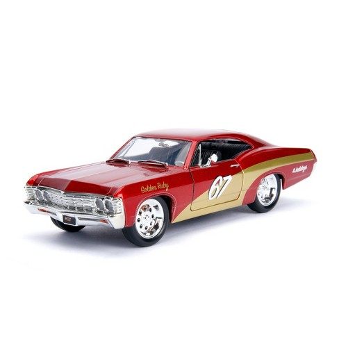 Jada Toys Big Time Muscle 1967 Chevy Impala Die-Cast Vehicle 1:24 Scale Metallic Red - image 1 of 4