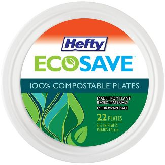 "Hefty EcoSave Molded Fiber 8 3/4"" Plates - 22ct"