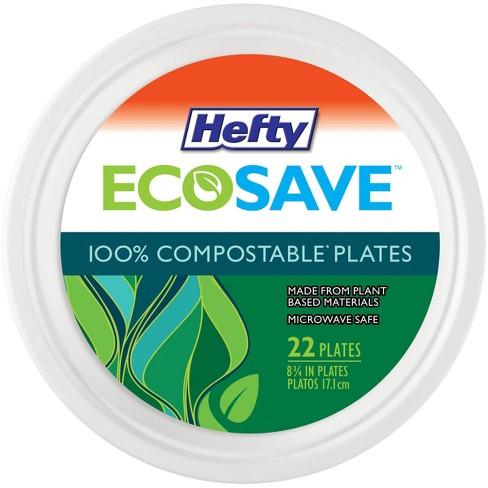 "Hefty EcoSave Molded Fiber 8 3/4"" Plates - 22ct - image 1 of 4"