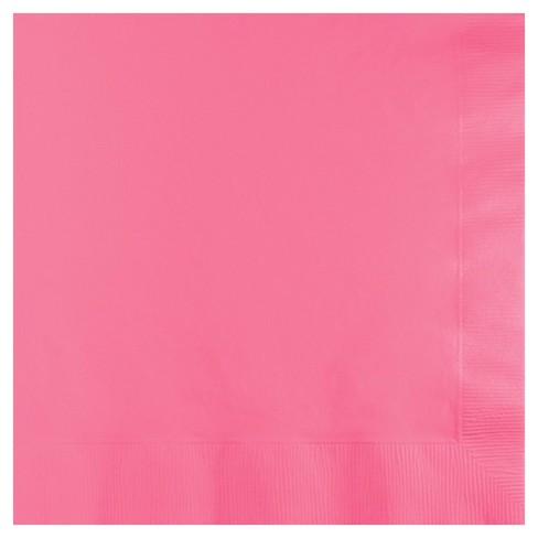50ct Candy Pink Disposable Napkins - image 1 of 1