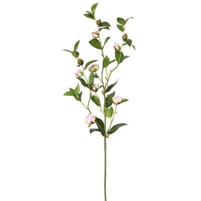 Artificial Tea Rose Spray (34'') Pink  - Vickerman