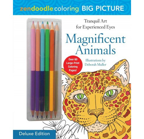 Zendoodle Coloring Big Picture Magnificent Animals. - image 1 of 1