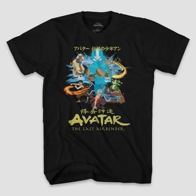 Men's Nickelodeon Avatar: The Last Airbender Short Sleeve Crewneck T-Shirt - Black