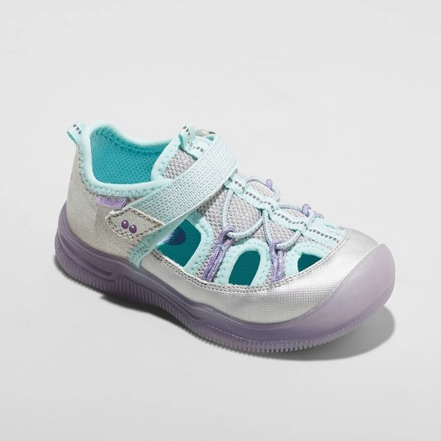 Toddler Girls' Surprize by Stride Rite June Light-Up Waterproof Hiking Sandals - Silver - image 1 of 4