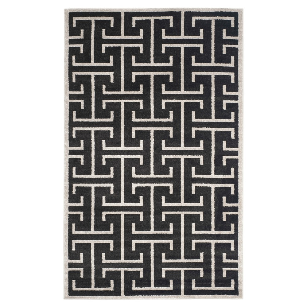 Anthracite/Light Gray (Grey/Light Gray) Geometric Loomed Area Rug - (5'X8') - Safavieh