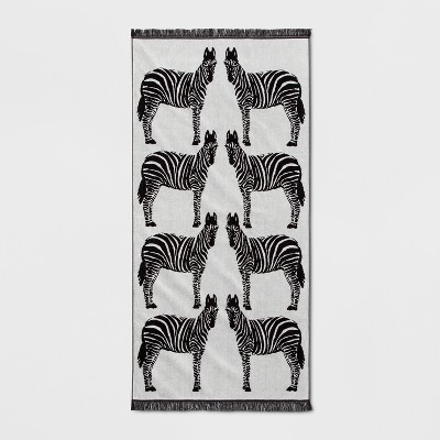 XL Zebra Beach Towel Black/White - Opalhouse™