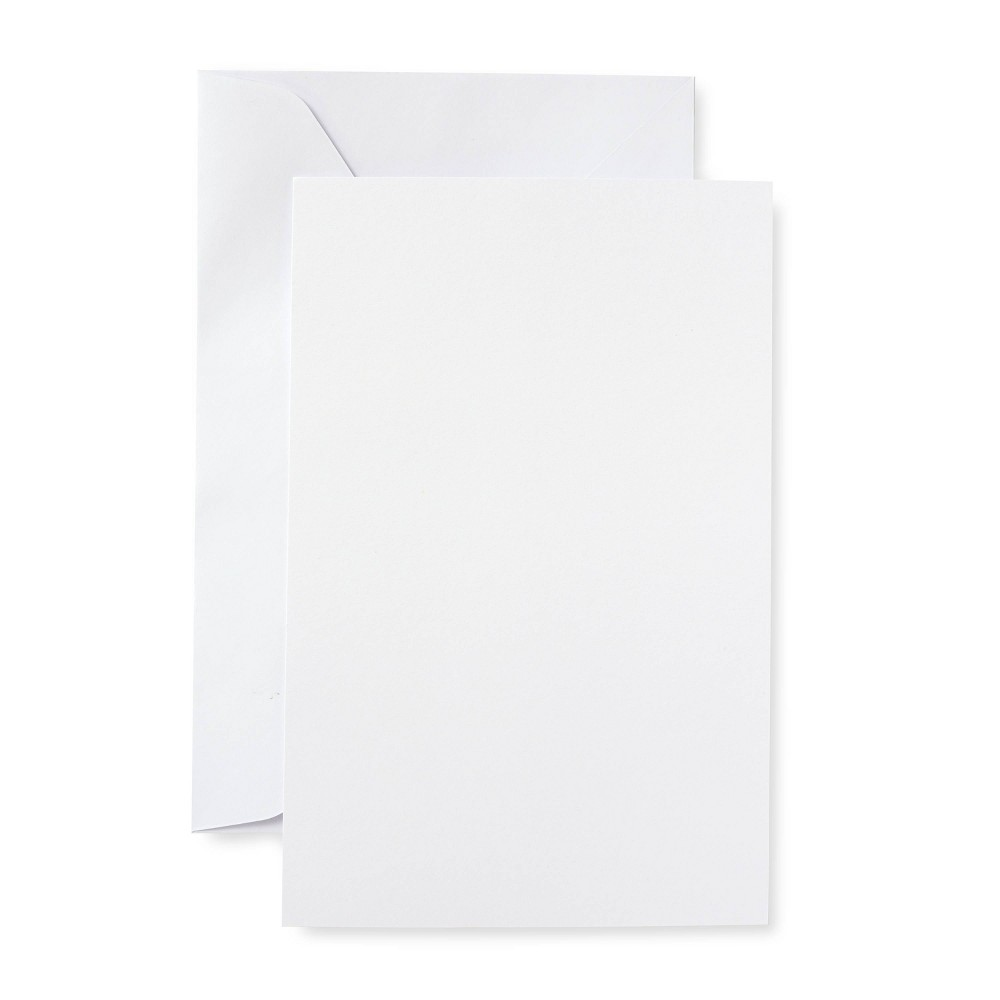 Blank Note Cards With Envelopes 50ct White