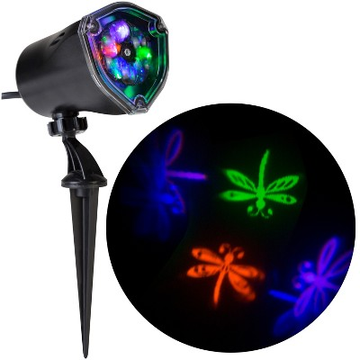 Gemmy Lightshow Projection Whirl A Motion Dragonflies (Purple/Blue/Green/Orange) , Multicolored