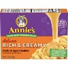 Annie's Homegrown Creamy Deluxe Macaroni Dinner Shells & Real Aged Cheddar Sauce 11oz - image 2 of 4