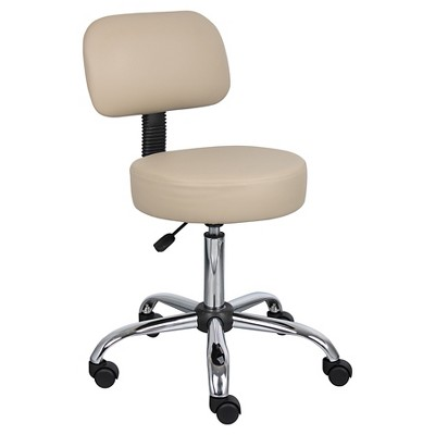 Medical Stool with Back Cushion - Boss Office Products
