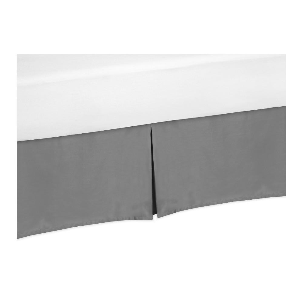 Image of Gray Bed Skirt for Black & White Fox Collection (Toddler) - Sweet Jojo Designs