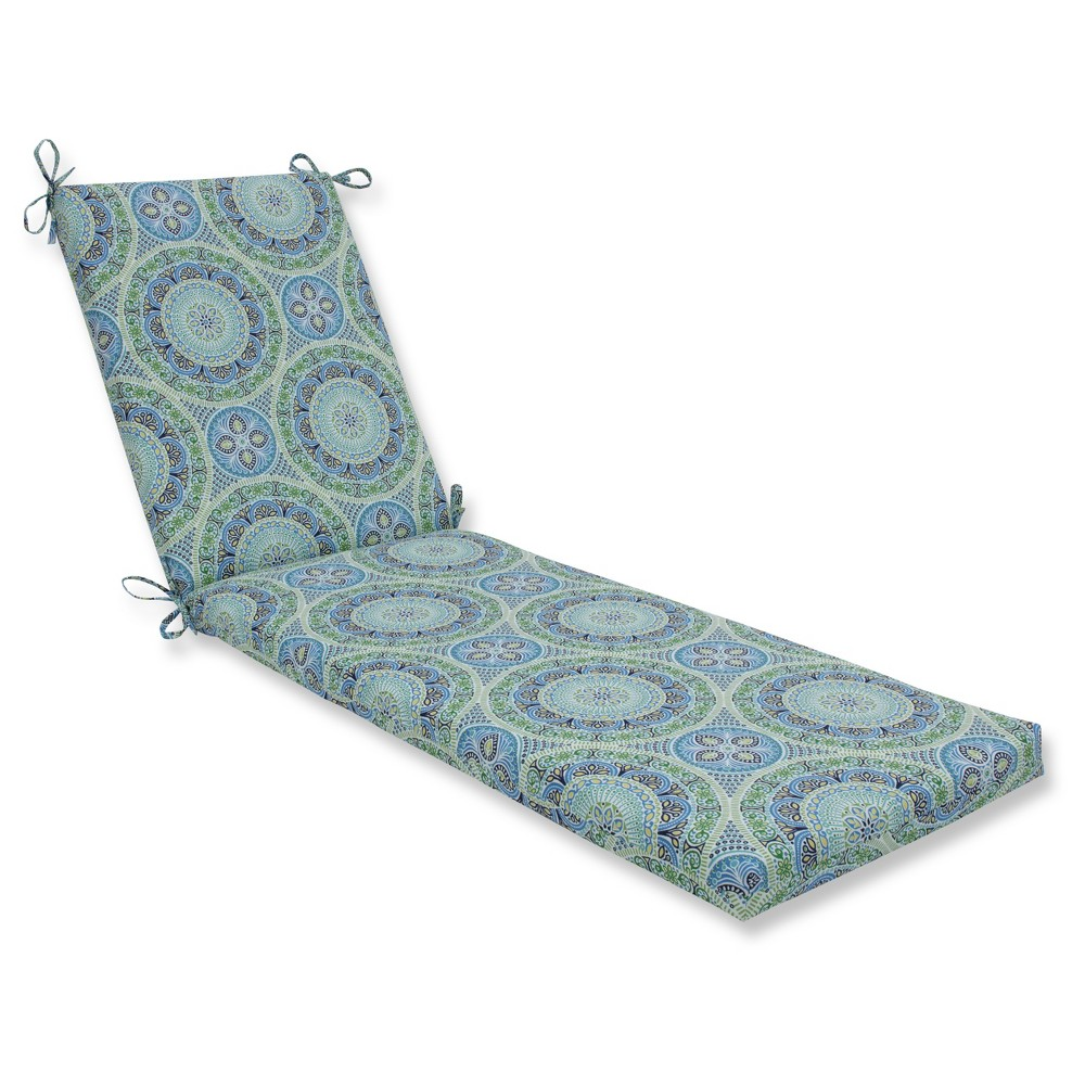 Outdoor/Indoor Delancey Blue Chaise Lounge Cushion - Pillow Perfect