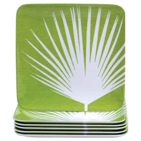 "Certified International Paradise Melamine Salad Plates Set of 6 (8.5"") - image 1 of 1"