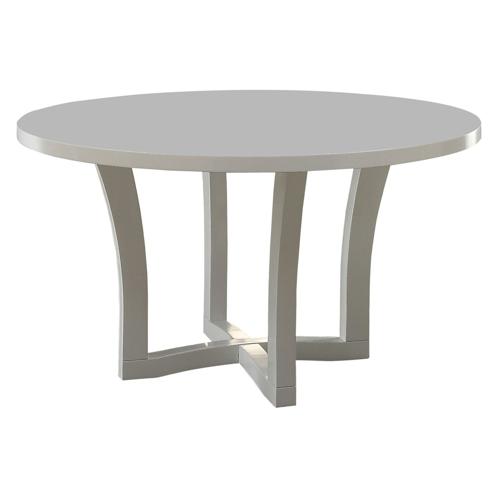 Iohomes Cerrone Contemporary Flared Base Round Dining Table White - Homes: Inside + Out