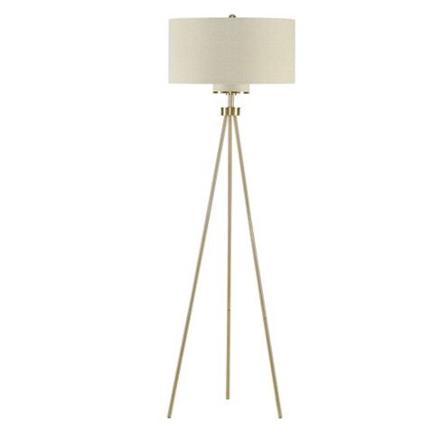66 5 Pacific Tripod Floor Lamp Gold