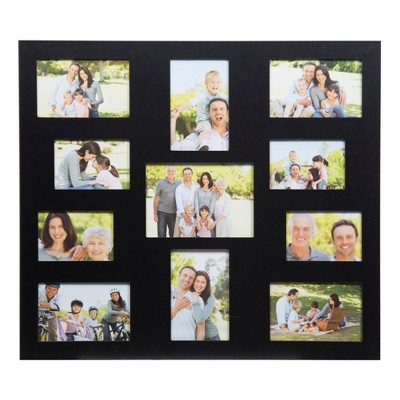 Multiple Image 11 Opening Black Collage Frame - Gallery Solutions
