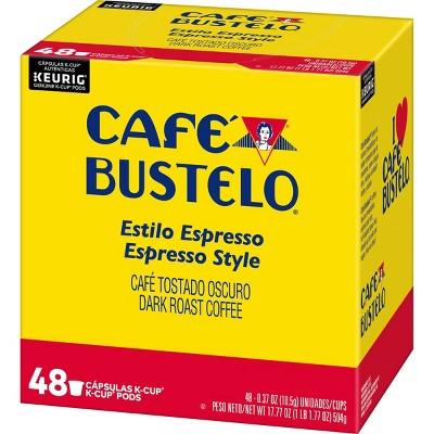 Cafe Bustelo Espresso Dark Roast Coffee - Keurig K-Cup Pods - 48ct