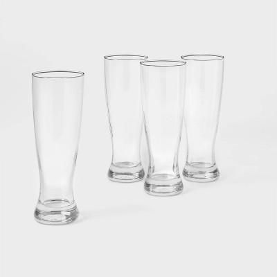23.4oz 4pk Glass Classic Pilsner Beer Glasses - Threshold™