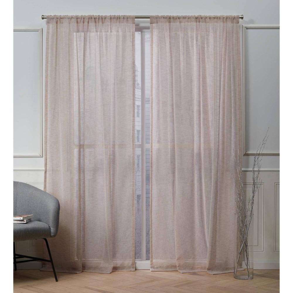 96 34 X50 34 Belfry Rod Pocket Sheer Window Curtain Panels Blush Pink Nicole Miller