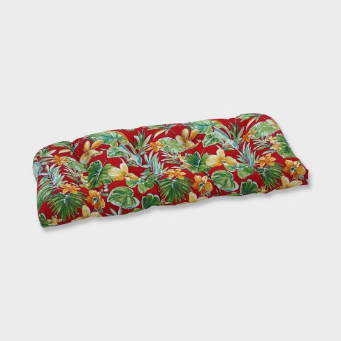 Beachcrest Poppy Wicker Outdoor Loveseat Cushion Red - Pillow Perfect - image 1 of 2