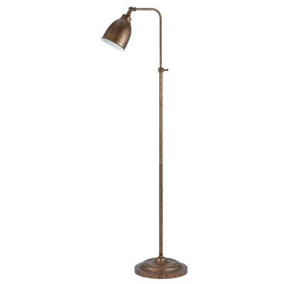 "46"" x 62"" Adjustable Height Metal Floor Lamp Rust Finish - Cal Lighting"