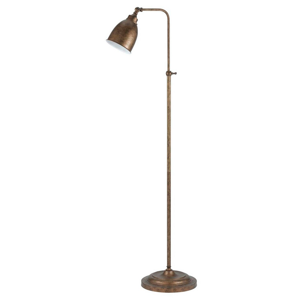 "Compare 46"" x 62"" Adjustable Height Metal Floor Lamp Rust Finish - Cal Lighting"