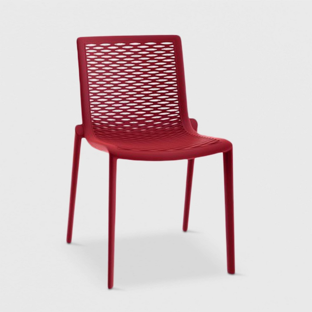 Image of Net - Kat 2pk Patio Chair - Red - RESOL
