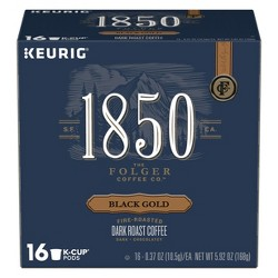 1850 Black Gold Dark Roast Coffee - Keurig K-Cups Pods - 16ct
