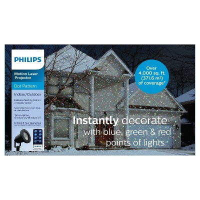 Philips® Christmas Motion LED Laser Projector with Remote Blue, Red and Green