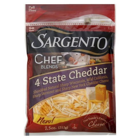 Sargento 4 State Cheddar Shredded Cheese - 7.5oz - image 1 of 1